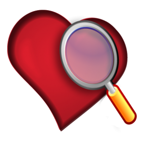 looking through magnifying clip art