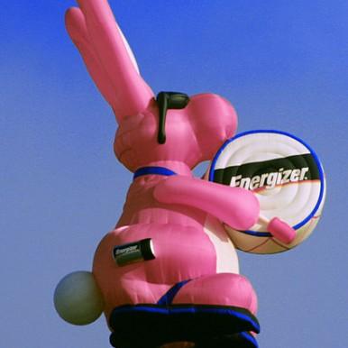 Hot air balloon shaped like the Energizer Bunny