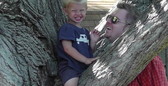Jonathan and his son, Declan