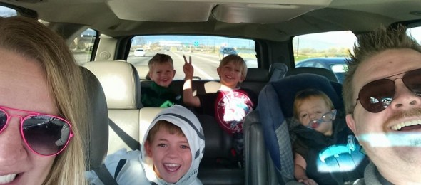 Our family in our new vehicle - 2014